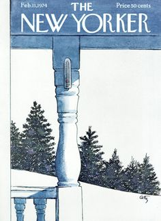 Arthur Getz : Cover art for The New Yorker 2556 - 11 February 1974