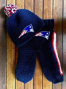 Baby Football Beanie Pants Crochet Pattern - Brady Football Set 591ba37c8e8e