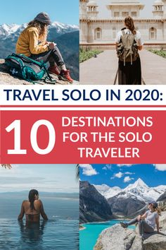 Solo Female Traveler: The Top 10 Destinations for Your First Solo Trip Top 10 Destinations, Solo Trip, Most Visited, Travel Alone, Confusion, Solo Travel, Places To Travel, Badass, Brave