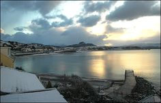 early snow, Criccieth, North Wales