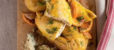 Salt chicken with fennel and orange