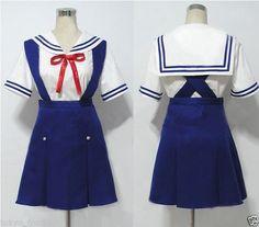 CLANNAD COSPLAY COSTUME uniform dress free shipping