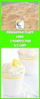 weight watchers best recipes | Pineapple Fluff Only 2 points for 1/2 cup! - ww recipes
