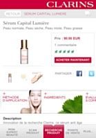 Clarins ... My personal Red Line application