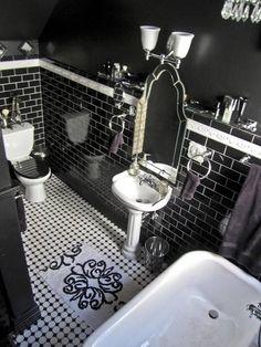 Gothic black bathroom