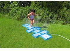 Sprinkler Hopscotch Garden Outdoor Water Spray Play Fun Toy Kids Children Hop