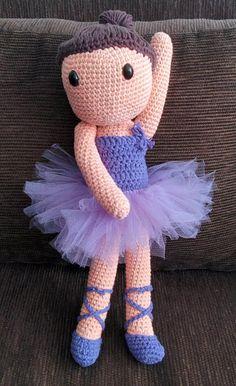 Muñeca Bailarina. Boneca Balarina. Ballet dancer doll. El Rinconcito de Julia. Crochet. Amigurumi.