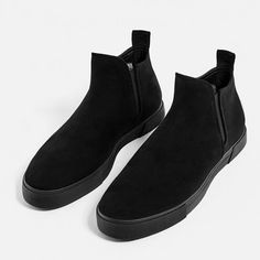 Image 6 of BLACK CHELSEA HIGH TOP SNEAKERS from Zara