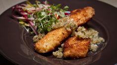 Une recette de sole en croûte de flocons de pommes de terre présentée sur Zeste et Zeste.tv. Fish And Seafood, Chicken, Punch, Tv, Steak, Seafood, Clams, Cod, Pisces