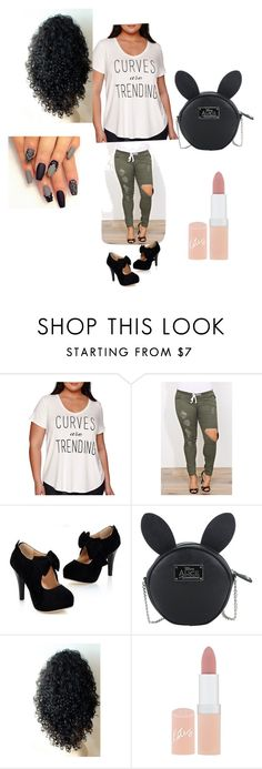 """""""Untitled #102"""" by kristyng03 ❤ liked on Polyvore featuring Boutique+, Disney, Rimmel and plus size clothing"""