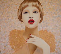 SARA / 140 x 155 cm / acrylic on canvas / 2014 by Lilja Bloom