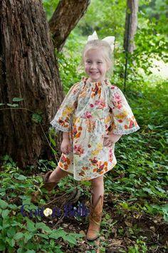 Autumn Harvest Dress  Fall Peasant Dress by CottonBelleBoutique, $38.00