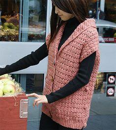 Cross Double Crochet Vest in elann.com Peruvian Highland Donegal