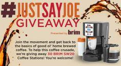 Just Say Joe Giveaway -