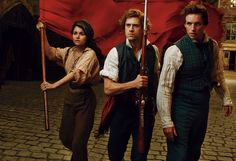 Eddie Redmayne, Aaron Tveit & Samantha Barks from a photoshoot they did for Vogue to promote their film Les Misérables back in 2012