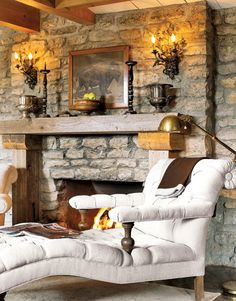 I would just love to relax here with a roaring fire in the fireplace.