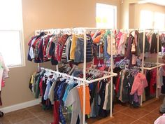 PVC Clothing Racks...