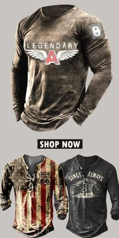 Up to 45% off! Men fashion long-sleeve T-shirt and accessories holiday sale for discount, free shipping on order $59. Shop now! #sale #men #outfits #accessories #shoes #shirt #tee #fall #winter #hoodie #tactical Fashion Clothes Online, Fashion Outfits, Casual Jeans, Men Casual, Popular Outfits, Mens Clothing Styles, Hoodie Jacket, Long Sleeve Shirts, Men Sweater