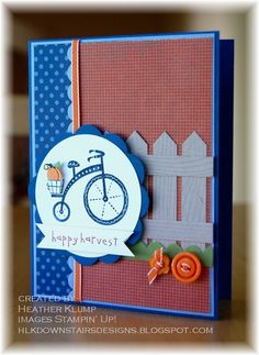 Stampin' Up! Card  by Heather Klump at Downstairs Designs