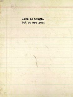 "I think I like ""life is tough but I'm tougher"" better Great Quotes, Quotes To Live By, Me Quotes, Motivational Quotes, Inspirational Quotes, Daily Quotes, Respect Quotes, Queen Quotes, Woman Quotes"