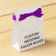 Custom Personalized Tent Wedding Favor Boxes - wedding cyo special idea weddings