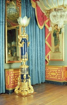 Interior of The Royal Pavilion, Brighton, East Sussex: The Banquet Hall