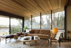 Hill House Five - The Archers Butterfly Roof, Ceramic Tile Bathrooms, Haus Am See, Clerestory Windows, Hollywood Homes, Steel Beams, Room Screen, Stained Glass Panels, Top Interior Designers