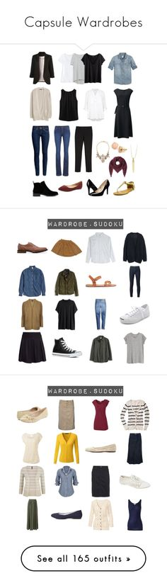 """""""Capsule Wardrobes"""" by sarah-dee-73 ❤ liked on Polyvore featuring H&M, ESPRIT, Lucky Brand, belle by Sigerson Morrison, Nine West, Very Volatile, WithChic, White House Black Market, Mossimo and Zara"""