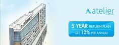 Atelier @ Infinium | Introducing Convertible Studios.  5 Year Return Plan || Get 12% Assured Return || Prices starting at Rs. 29.96 LACS*