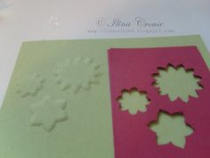 Here is a tutorial to make your own dry embossing template using punches
