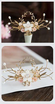 Kawaii Accessories, Wedding Accessories, Jewelry Accessories, Fashion Accessories, Jewelry Design, Fashion Jewelry, Cute Jewelry, Hair Jewelry, Hair Decorations