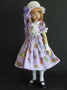 "Purple Dress Set Handmade for Kaye Wiggs Layla Hope Lasher 18""45cm BJD by JEC | eBay"