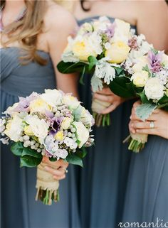 I like the shape of these boquets