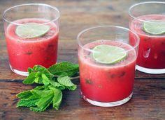 Watermelon Agua Fresca with Mint by @Ashley Neese + Glassware by @west elm