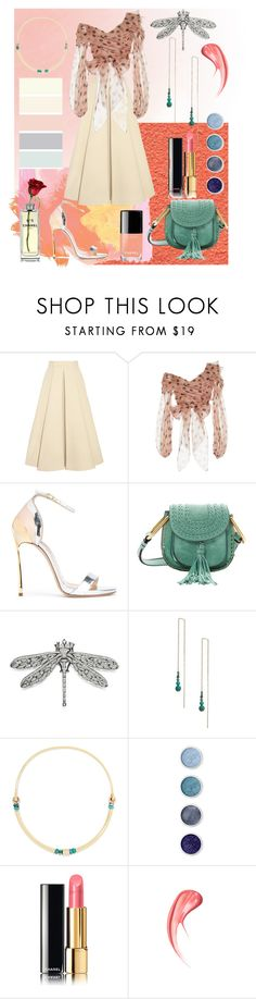 """Untitled No. 13"" by samanthabishop-i ❤ liked on Polyvore featuring Delpozo, Johanna Ortiz, Casadei, Chloé, Tory Burch, Zimmermann, Pamela Love, Chanel and Terre Mère"