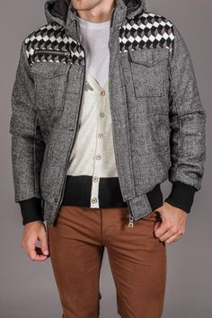 White Picket Fence Grey Shoulder Stripe Jacket... Wish I had money to buy this for Chase!!!