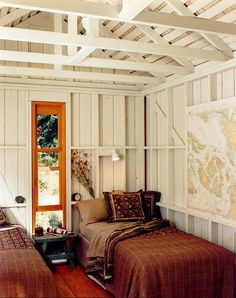 Love the exposed rafters.