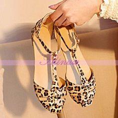 Fashion Stylish Lady Women's Casual Sandals Shoes Leopard Flat Heel Flip Flops #NewBrand