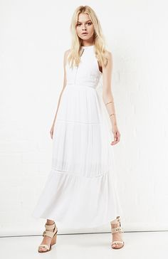Somedays Lovin The Highway Maxi Dress in White S - M | DAILYLOOK