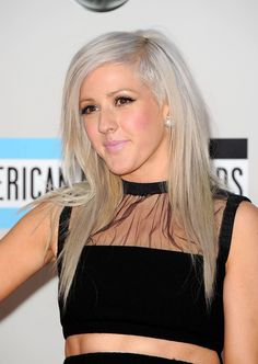 Ellie Goulding's Grey Look - The Prettiest Rainbow Hairstyles From Our Favorite Celebrities  - Photos