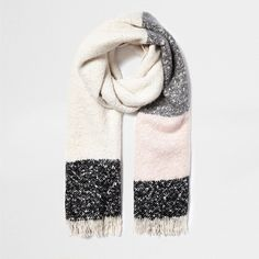 River Island Cream tartan blanket scarf ($22) ❤ liked on Polyvore featuring accessories, scarves, tartan plaid blanket scarf, tartan blanket scarf, tartan scarves, blanket scarf and plaid scarves