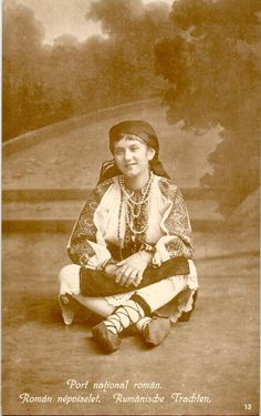 No.13 Romanian National costume Folk Embroidery, Embroidery Patterns, Folk Costume, Costumes, Old Photos, Folk Art, Textiles, Traditional, Artwork