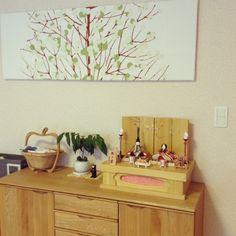 お雛様/ファブリックパネル/マリメッコ/北欧/My Shelfのインテリア実例 - 2015-02-12 01:03:10   RoomClip(ルームクリップ)