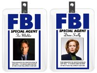 Mulder and Scully Halloween Costume Badge