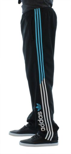Black Adidas Modern Prep Men's Athletic Track Pant Sweat Pant 3 Stripe | Streetmoda. Click here for discounted Adidas apparel http://www.streetmoda.com/collections/adidas from Streetmoda.com