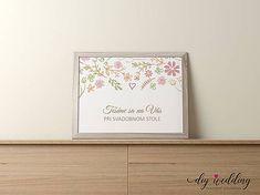 DIYWedding / Pozvanie k svadobnému stolu Letná láska