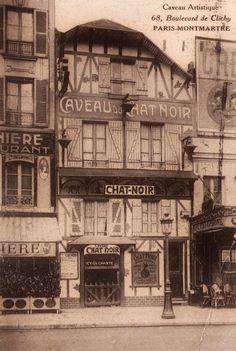 Photograph-The portrait fa& of Le Chat Noir, Montmartre, Paris, Photo Print made in the USA Paris 1920s, Paris Vintage, Old Paris, Montmartre Paris, Cabaret, Tour Eiffel, La Rive, Paris Ville, Toulouse