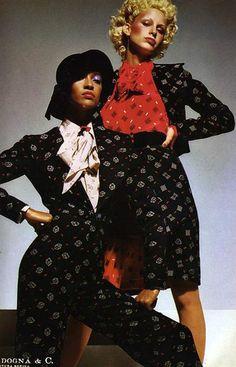 CAROL LA BRIE & DONNA JORDAN, Vogue Italia - 1972