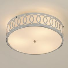 Interlocking Rings Flush Mount Ceiling Light -- Laundry Room, need something pretty flush to ceiling like this so cupboards will clear it