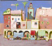 Market Stalls, Marrakech. Leon Morrocco. 2007. Tangier, Marrakech, Market Stalls, Paintings, Artist, Africa, Morocco, Paint, Market Stands